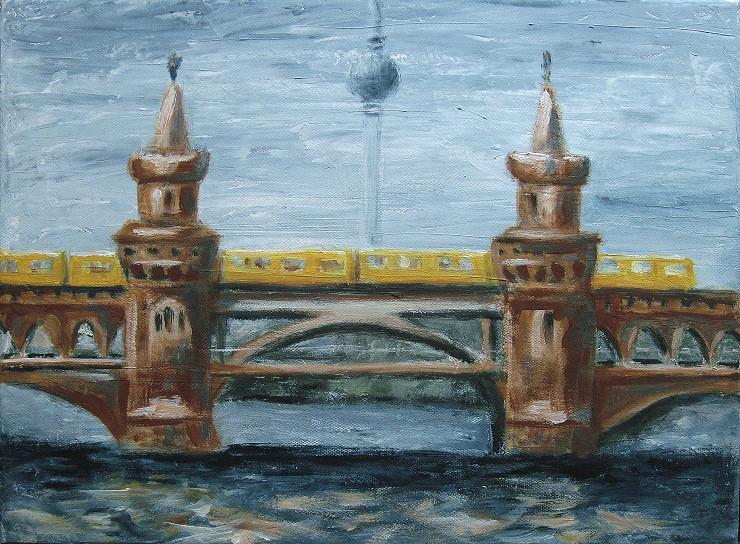 Oberbaumbrücke Berlin Acrylbild Kunst Malerei Gemälde Painting