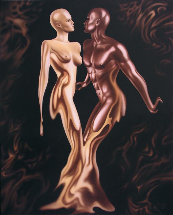 schoko & vanille, Kunst, Malerei Gemälde Painting