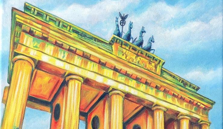 Brandenburger Tor, Kunst, Acrylbild