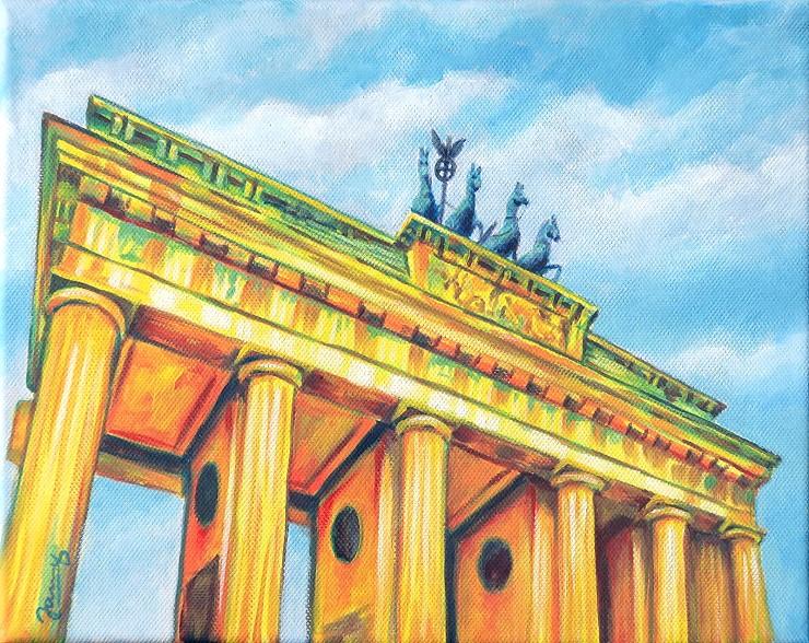 Brandenburger Tor, Berlin, Moderne Kunst, Gemälde Painting Acryl