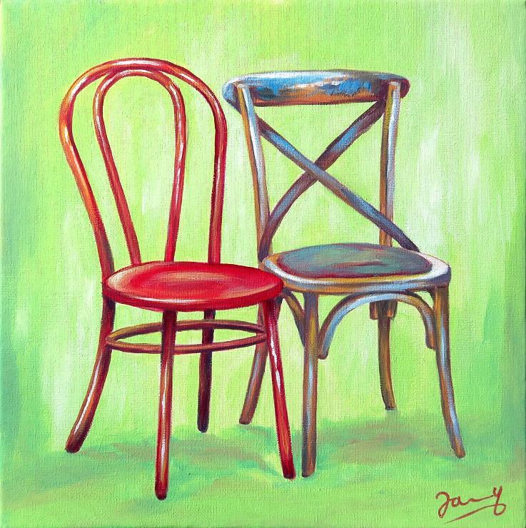 Ungleiches Paar, Kunst Malerei Acrylgemälde