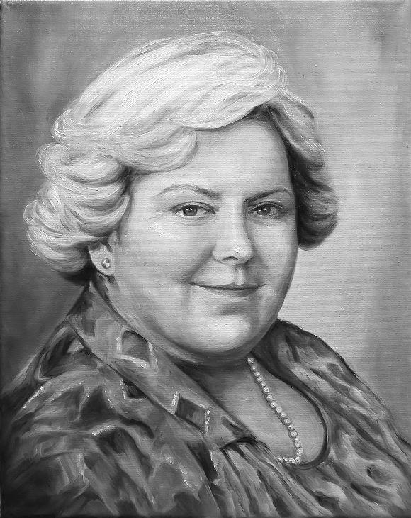 Ihr Öl - Portrait vom Foto