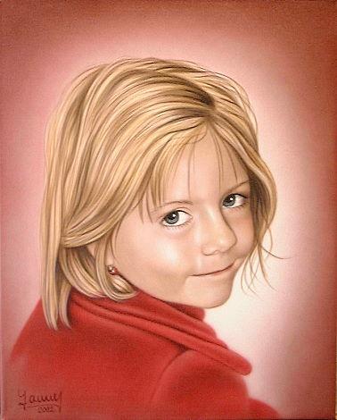 Airbrush Portrait Gemälde Julia