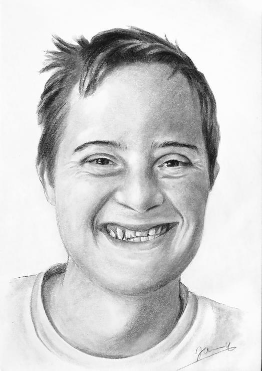 Portrait Zeichnung Auftragsarbeit vom Foto