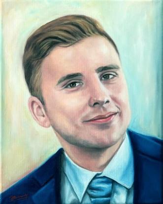 Mann Portrait Ölbild Gemälde