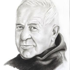 Opa Portrait Zeichnung vom Foto