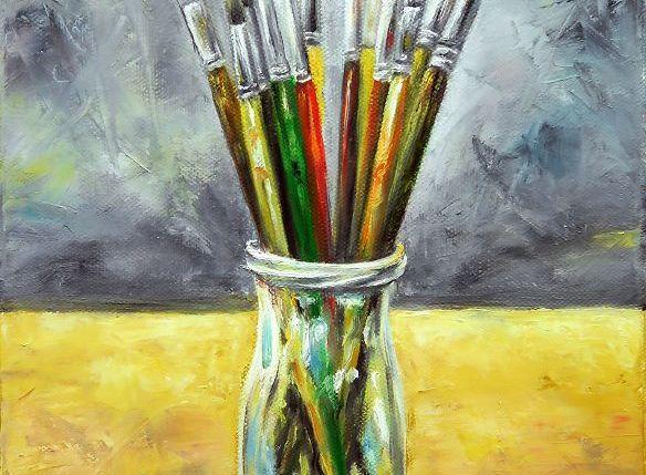 Pinselstillleben Gemälde Malerei Kunst