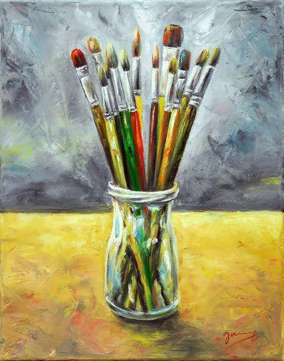 Pinselstillleben Ölgemälde Malerei Moderne Kunst Painting