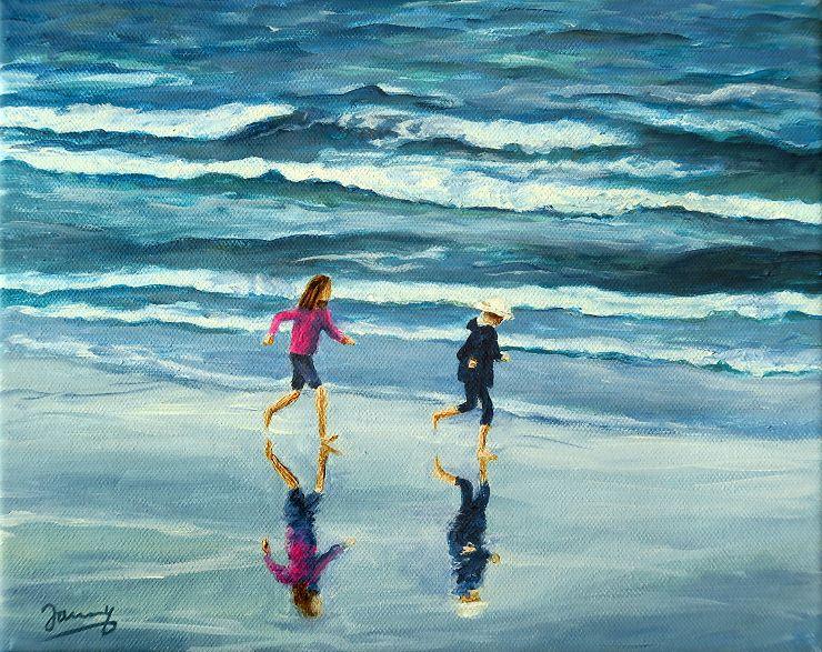 Am Strand Gemälde Moderne Kunst