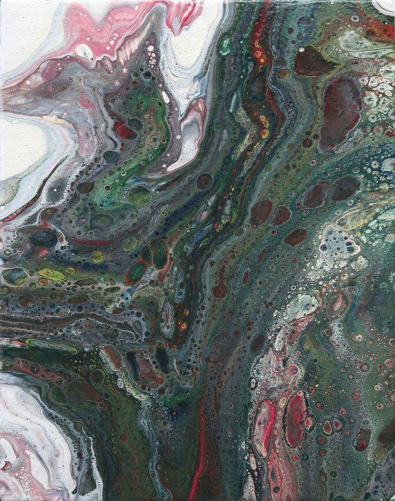 Fluid Painting Gemälde Moderne Kunst abstrakt Malerei