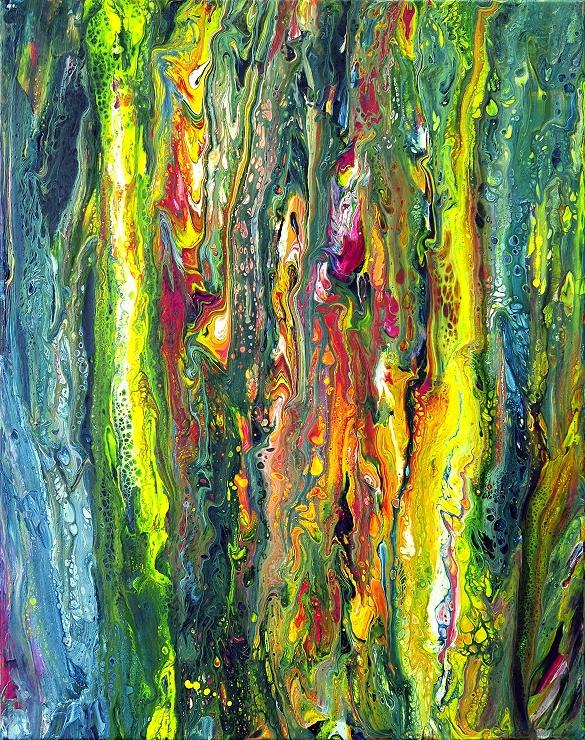 moderne kunst fluid painting acrylbild malerei abstrakt