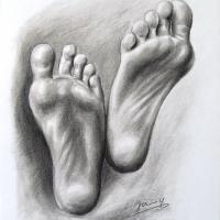 Füße Zeichnung