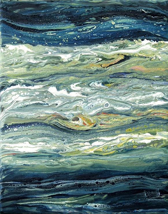 moderne kunst fluidpainting acrylbild malerei