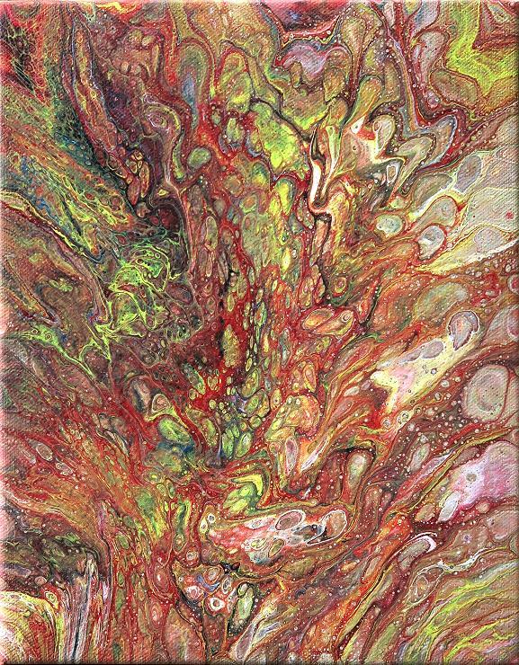 fluidpainting moderne kunst acrylbild malerei