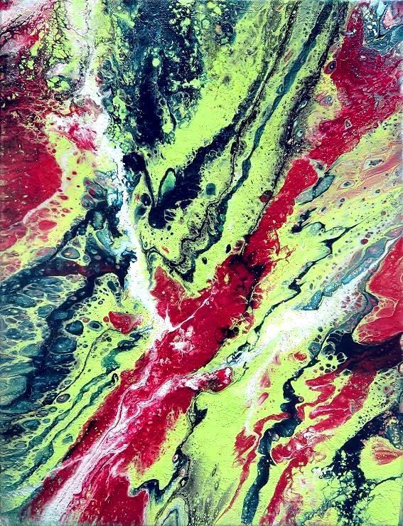moderne kunst fluidpainting malerei acrylbild