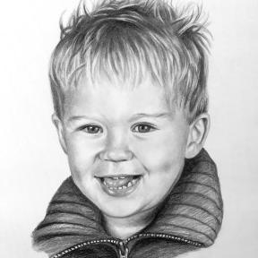 Portrait Kohlezeichnung Auftragsmalerei