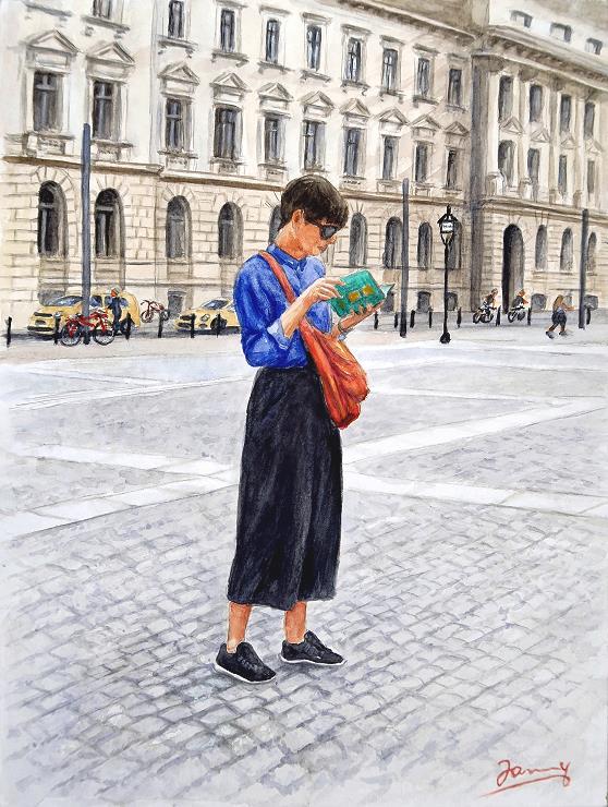 Aquarell Watercolor Painting Berlin
