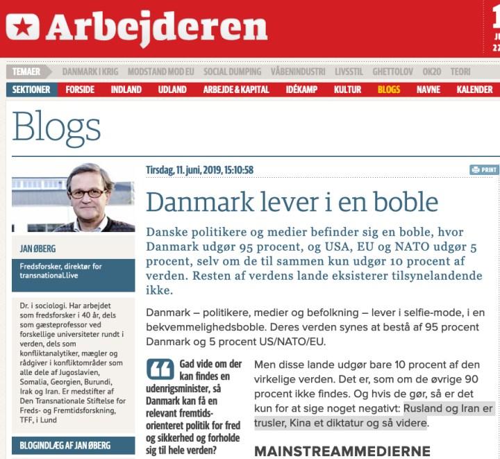 Danmark lever i en boble og den kommende regering vil leve i interessante tider