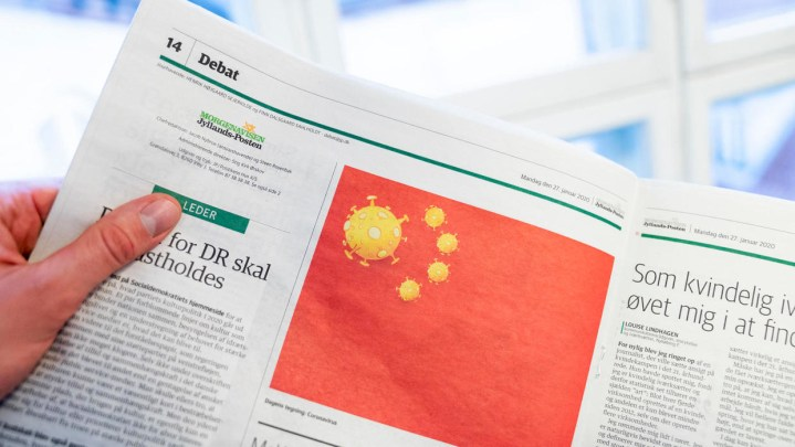 Jyllands-Posten dumsmarte corona-flag