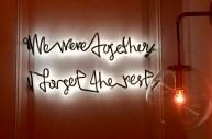 we were together i forget the rest NYC west village