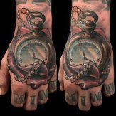Corey Oda Canadian Artist Tattoo CLock