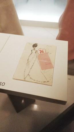 Balenciaga Fabric Sample & Sketch. Photo by: Alexandra Margulescu