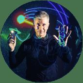 Yan Breuleux. Visuals and sound Illumination Frankenstein. Photo: Societe des Arts Technologiques