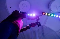 Player in VR art experience Cadavre Exquis. Photo: Sandra Larochelle