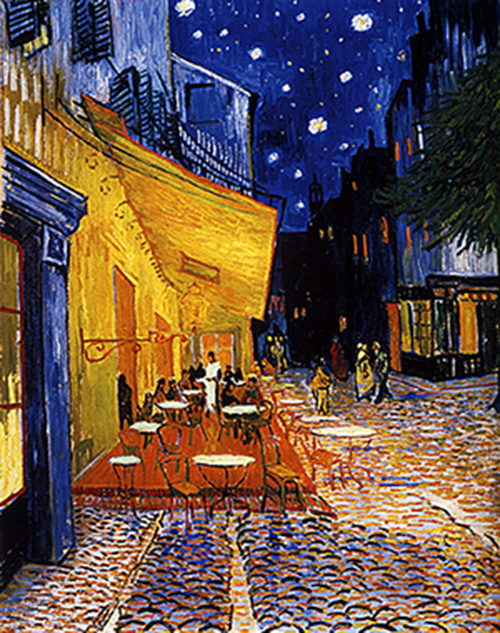 Cafe Terrace at Night. 1888. Vincent Van Gogh. Photo: Tandem Exposition Inc.