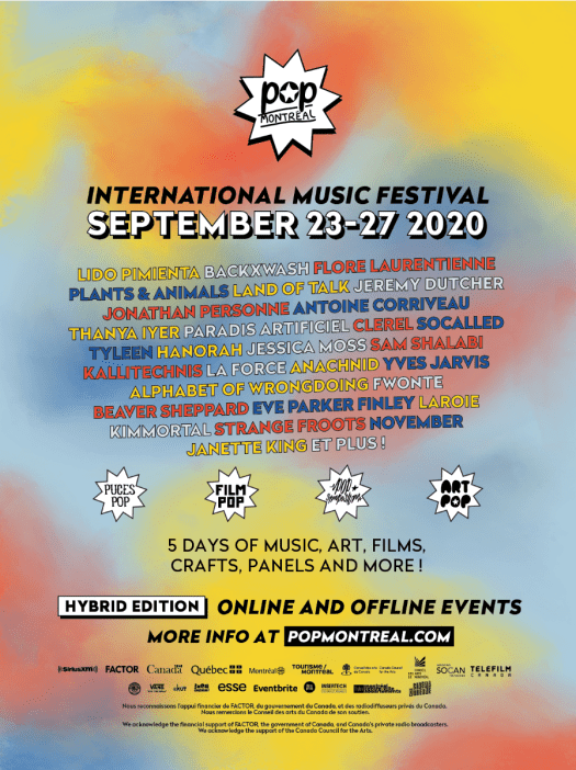 POP Montreal 2020 promo poster