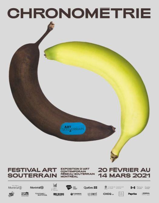 Festival art souterrain 2021 chronometrie promo poster Art & the City