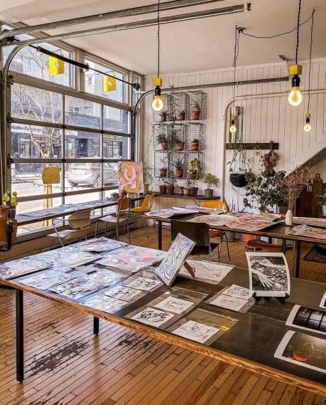 Café Sfouf, one of the creative cafés in Montreal.
