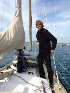 Monday, 4. August 2014, at the mooring on Alderney, just prepared the dinghy to row ashore.