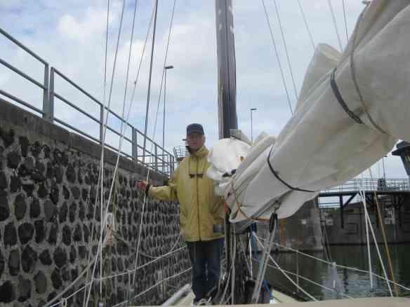 In der Schleuse vom Walcheren-Kanal