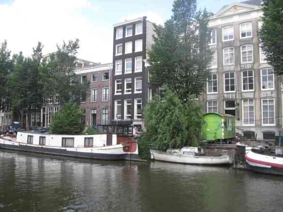 Rotten boat in Amsterdam Gracht