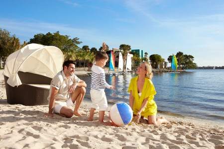 Sandpiper Bay is the only Club Med in the U.S. and while it's on a river rather than an ocean, it does have this pretty beach.