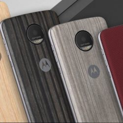 You can change the look of your Motorola Z phone with swappable backs.
