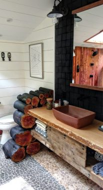 bathroom of Dove Men+Care Elements Treehouse