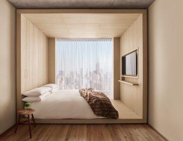 hotel room, Public Hotel, New York City