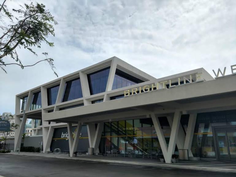 Brightline station exterior in West Palm Beach
