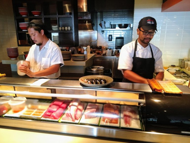 sushi chefs at Buccan in Palm Beach