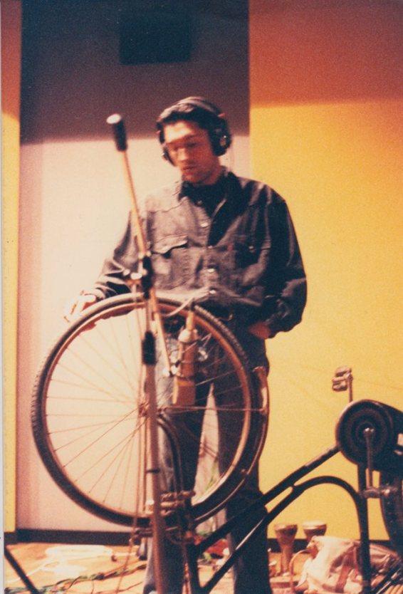 Steve playing the big wheel