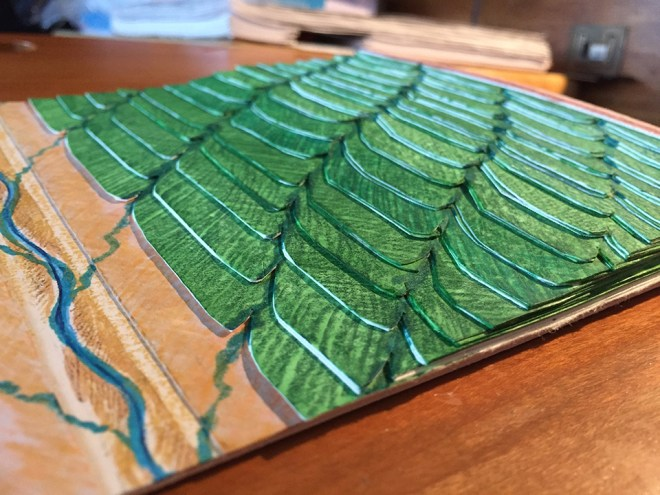 This colorful 3D model ultimately didn't provide a good model of terraces and drainage on Rana, but it was helpful to test the idea.