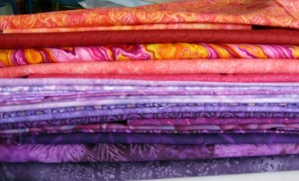 Fabrics ready for a quilt