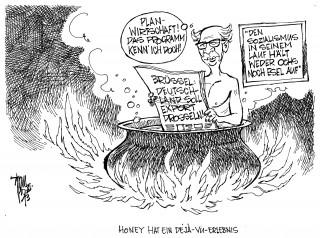 Aktuelle Karikaturen: Brüssel kritisiert deutschen Exportboom