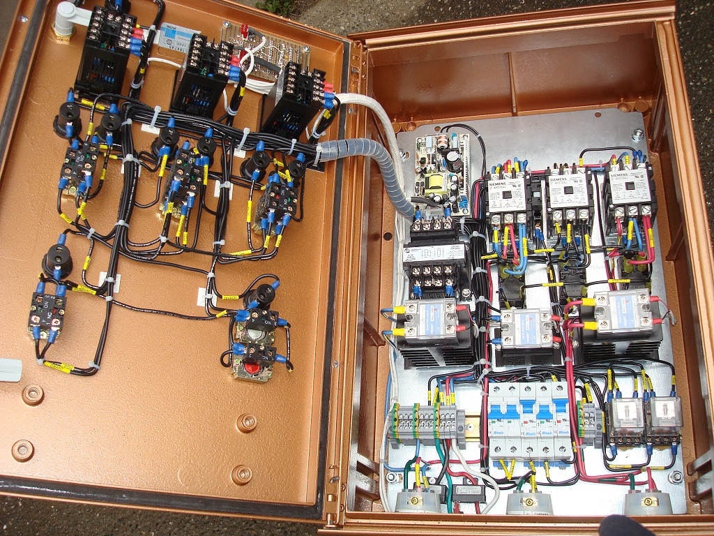 electrical control panel wiring diagram reading a relay electric brewery construction pictures
