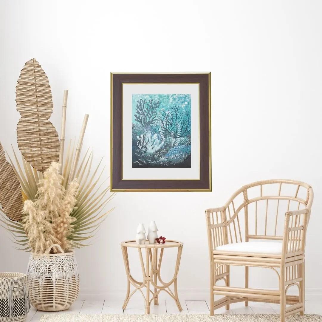 Living Room Wall Art by Jan Tetsutani Art