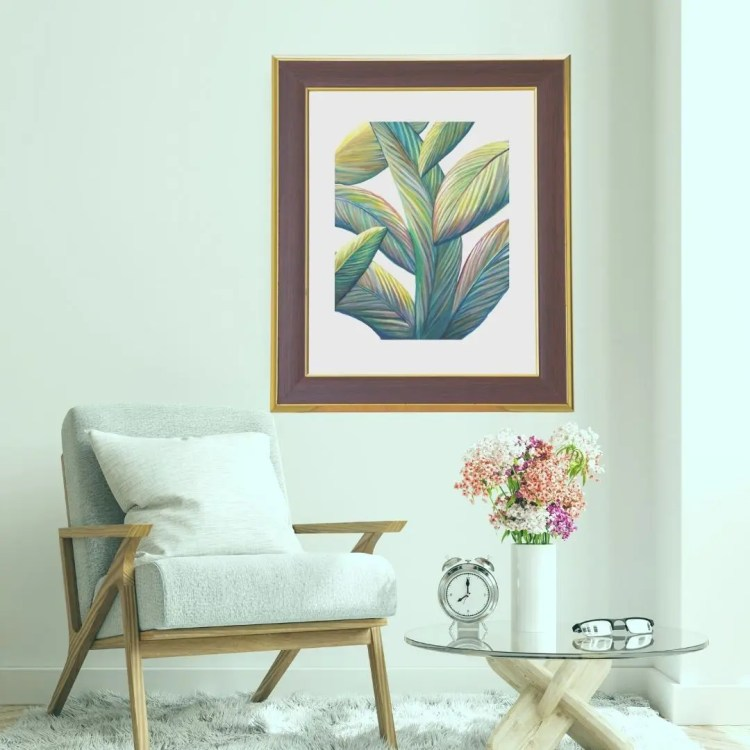 tropical home decor art print by jan tetsutani