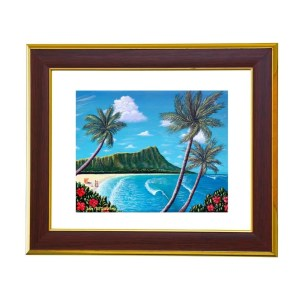 Vacation to Hawaii art print by Jan Tetsutani