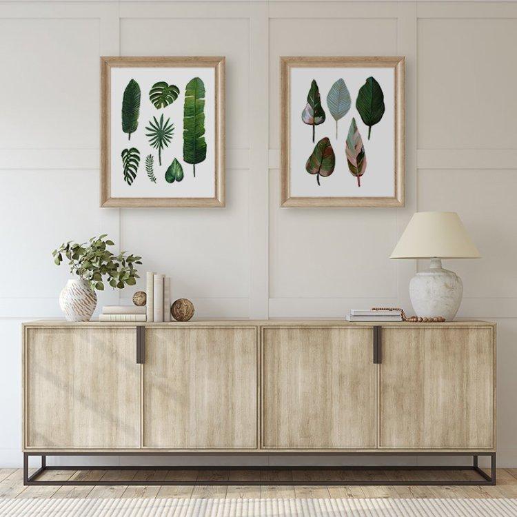 Greenery decor wall art by Jan Tetsutani